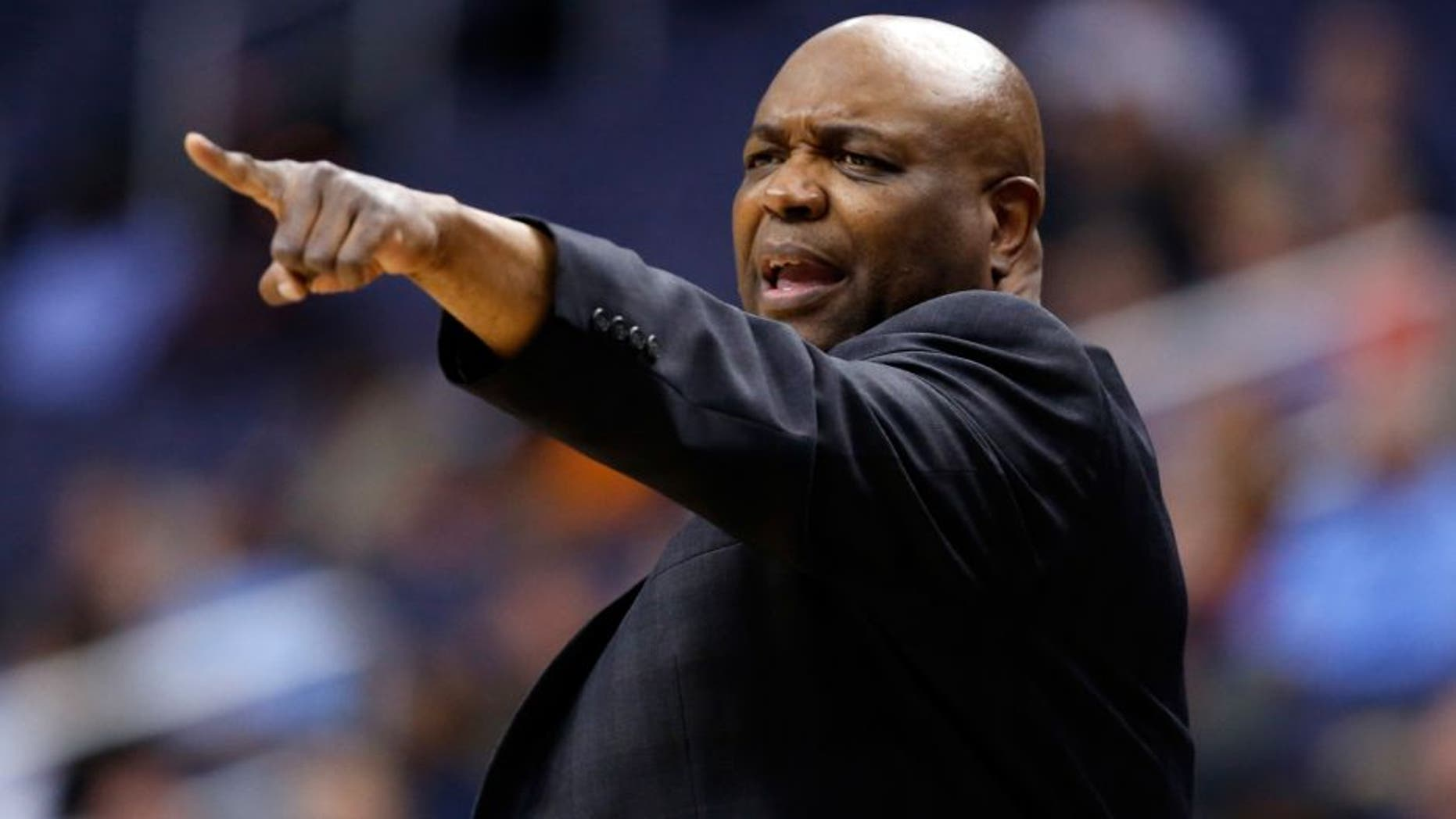 FILE- In this March 8, 2016 file photo, Florida State head coach Leonard Hamilton reacts during the second half of an NCAA college basketball game in the Atlantic Coast Conference tournament against Boston College in Washington. After having a mostly inexperienced squad last season, Hamilton has been happy with how Florida State has done during the offseason as it prepares for next season. (AP Photo/Alex Brandon, File)