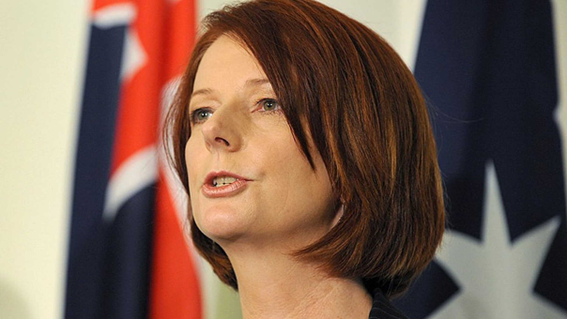 June 24: Australia's new prime minister Julia Gillard speaks during a press conference, in Canberra.