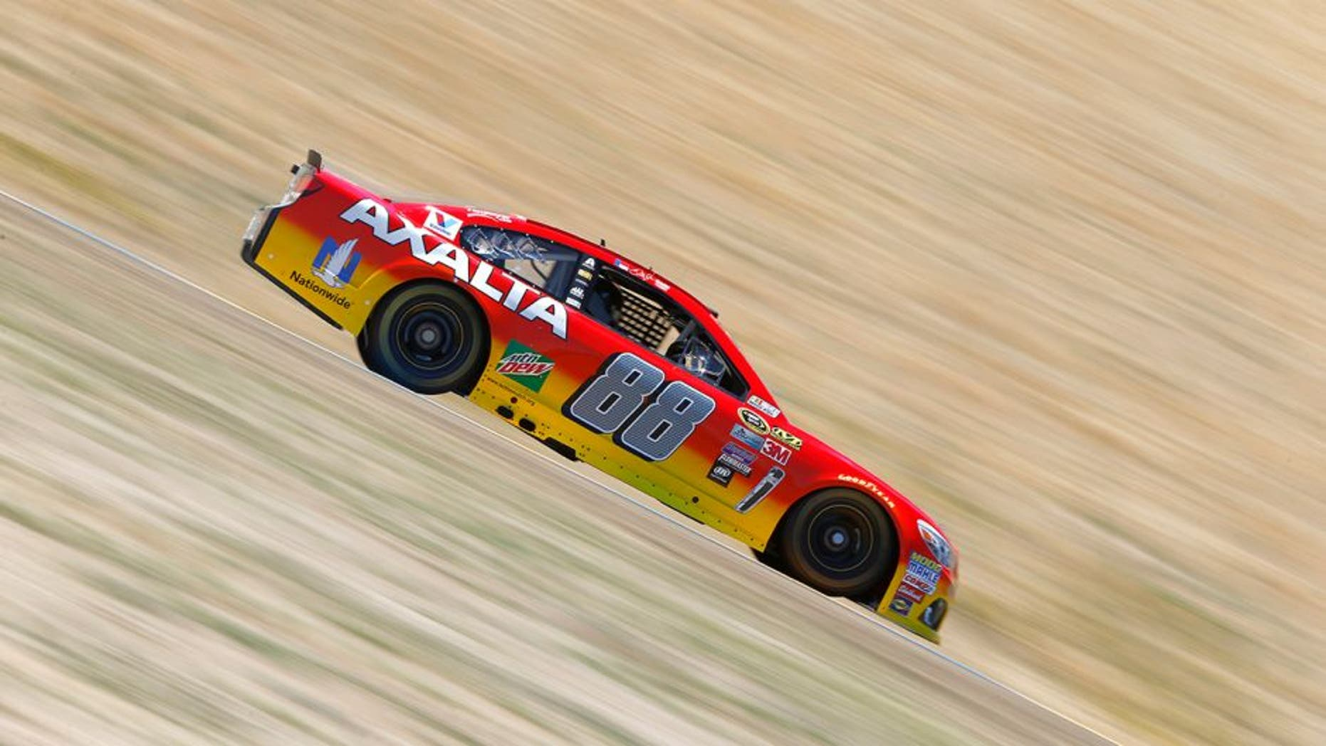 SONOMA, CA - JUNE 24: Dale Earnhardt Jr, driver of the #88 Axalta Chevrolet, drives during practice for the NASCAR Sprint Cup Series Toyota/Save Mart 350 at Sonoma Raceway on June 24, 2016 in Sonoma, California. (Photo by Jonathan Ferrey/Getty Images)