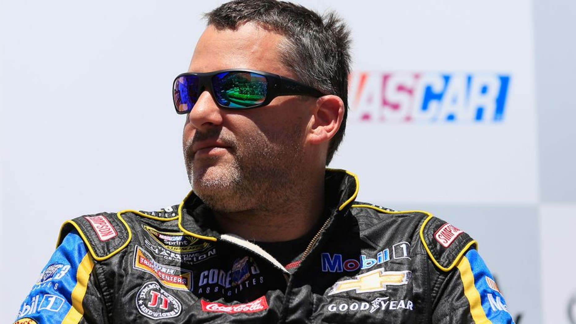 SONOMA, CA - JUNE 24: Tony Stewart, driver of the #14 Code 3 Assoc/Mobil 1 Chevrolet, is inducted into the Sonoma Raceway Wall Of Fame after practice for the NASCAR Sprint Cup Series Toyota/Save Mart 350 at Sonoma Raceway on June 24, 2016 in Sonoma, California. (Photo by Chris Trotman/NASCAR via Getty Images)