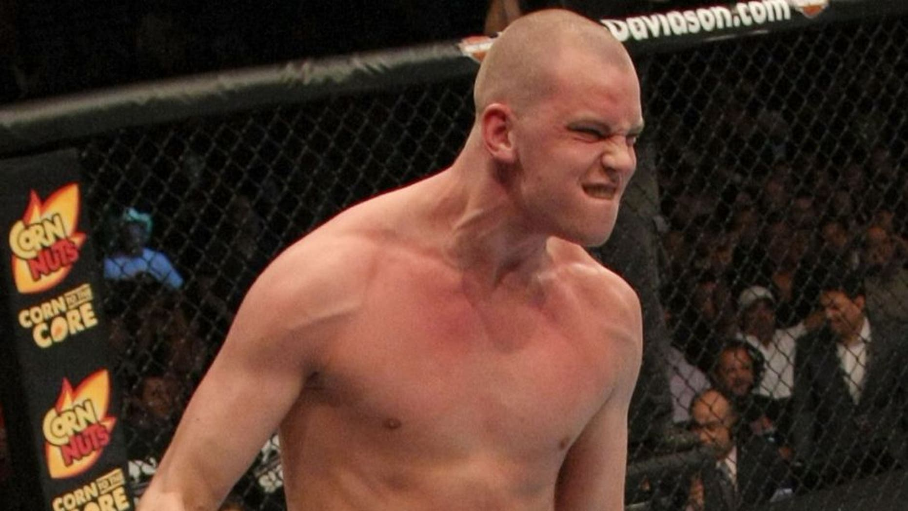 LAS VEGAS, NV - MAY 26: Stefan Struve reacts to his submission win over Lavar Johnson during a heavyweight bout at UFC 146 at MGM Grand Garden Arena on May 26, 2012 in Las Vegas, Nevada. (Photo by Donald Miralle/Zuffa LLC/Zuffa LLC via Getty Images)