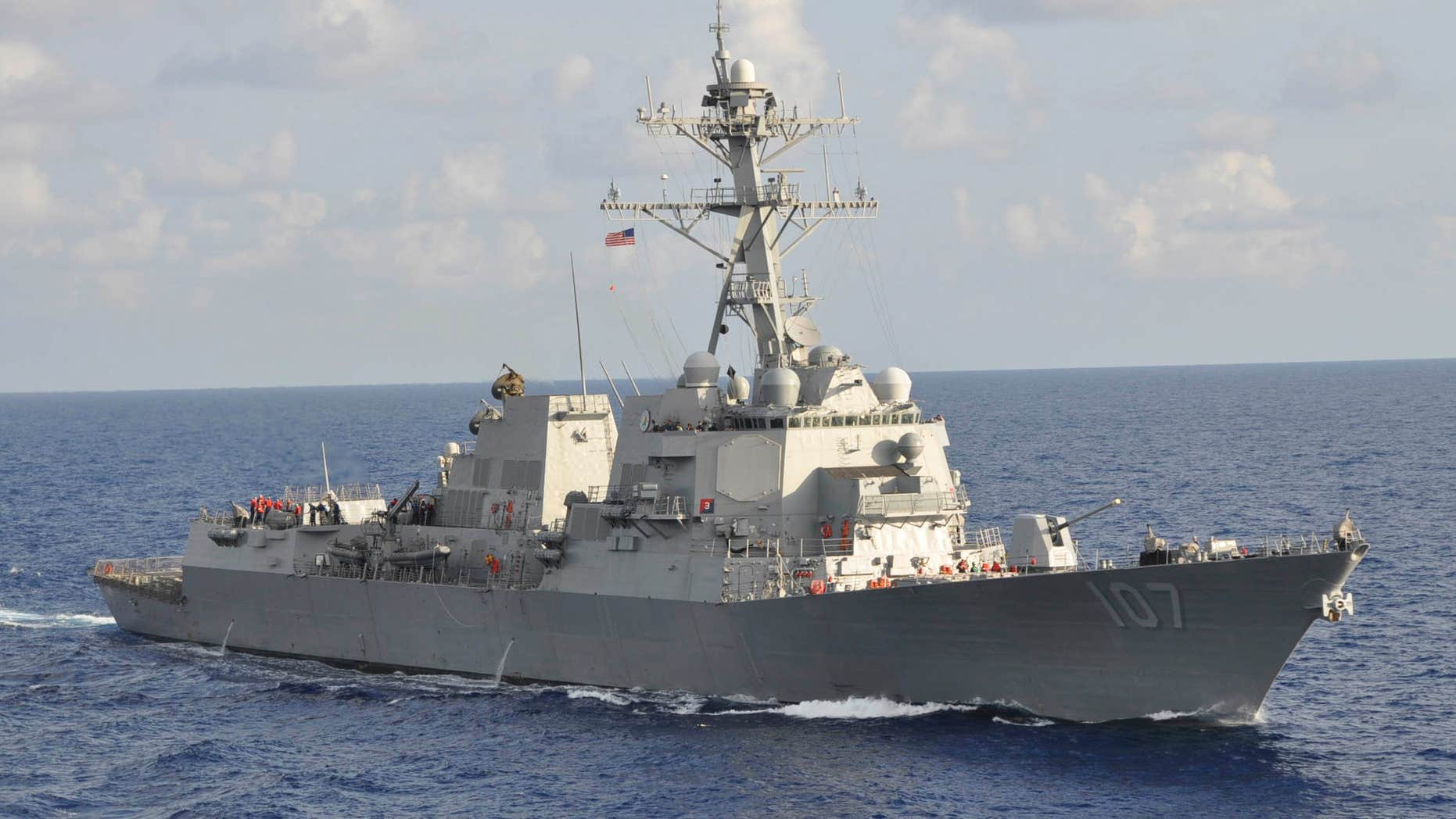 Sept. 25, 2012: The Arleigh Burke-class guided-missile destroyer USS Gravely (DDG 107) is pictured underway during the multinational UNITAS Atlantic 53-2012 exercise conducted in the western Caribbean Sea.
