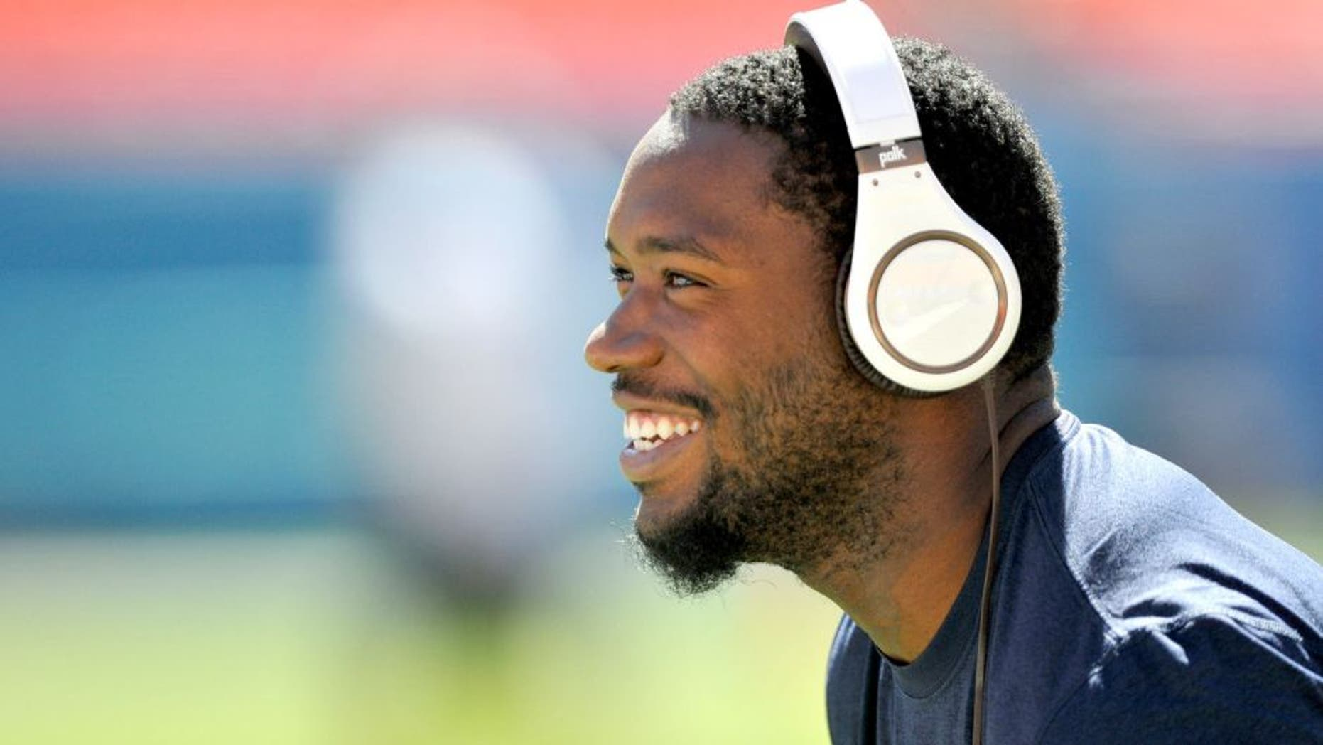Nov 2, 2014; Miami Gardens, FL, USA; San Diego Chargers tight end Ladarius Green (89) looks on prior to the game against the Miami Dolphins at Sun Life Stadium. Mandatory Credit: Brad Barr-USA TODAY Sports