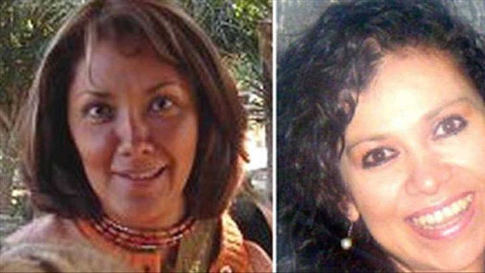 A photograph released Friday by muckraking Mexican news magazine Contralinea of journalists Rocio Gonzalez Trapaga (left) and Marcela Yarce Viveros, who were found slain Thursday at a park on this capital's southeast side.