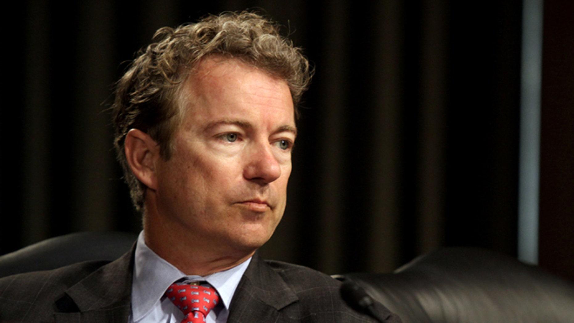 FILE: April 1, 2014: Sen. Rand Paul, R-Ky., on Capitol Hill in Washington, D.C.