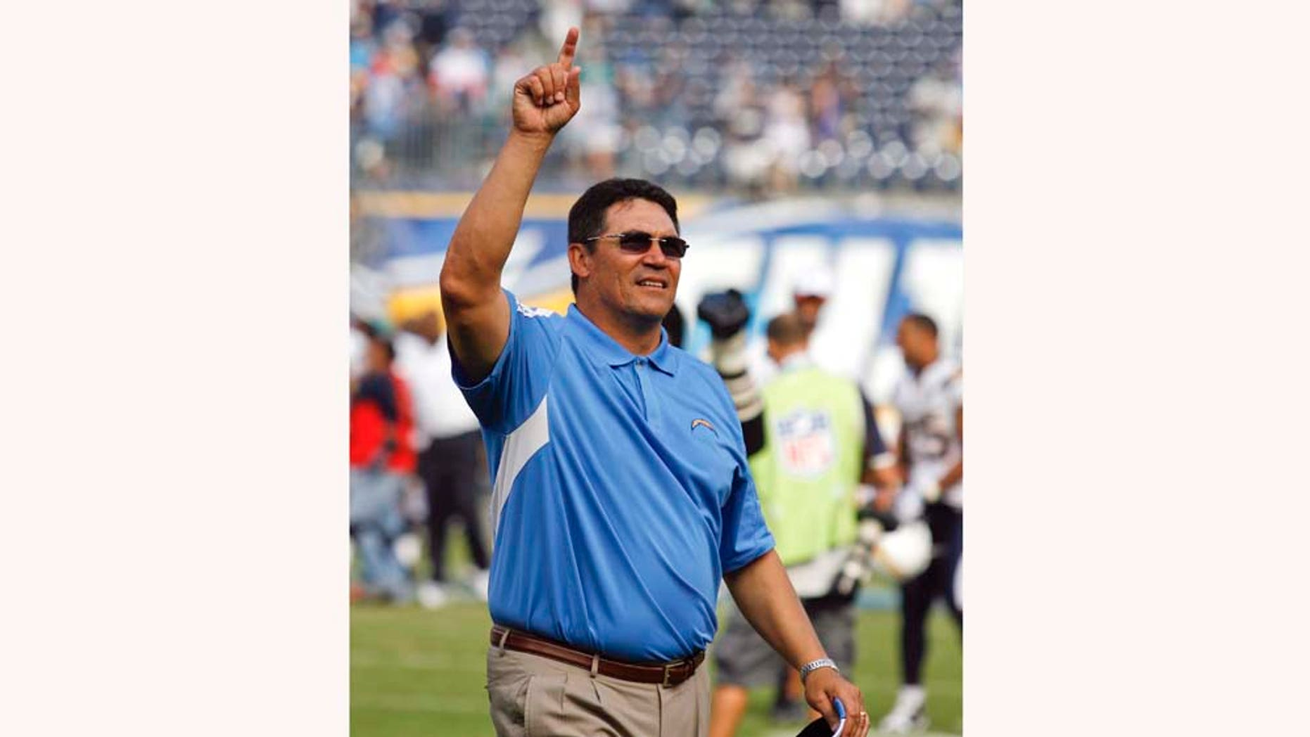 San Diego Chargers defensive coordinator Ron Rivera after an NFL  football game against the Miami Dolphins Sunday, Sept. 27, 2009 in San Diego.  (AP Photo/Denis Poroy)