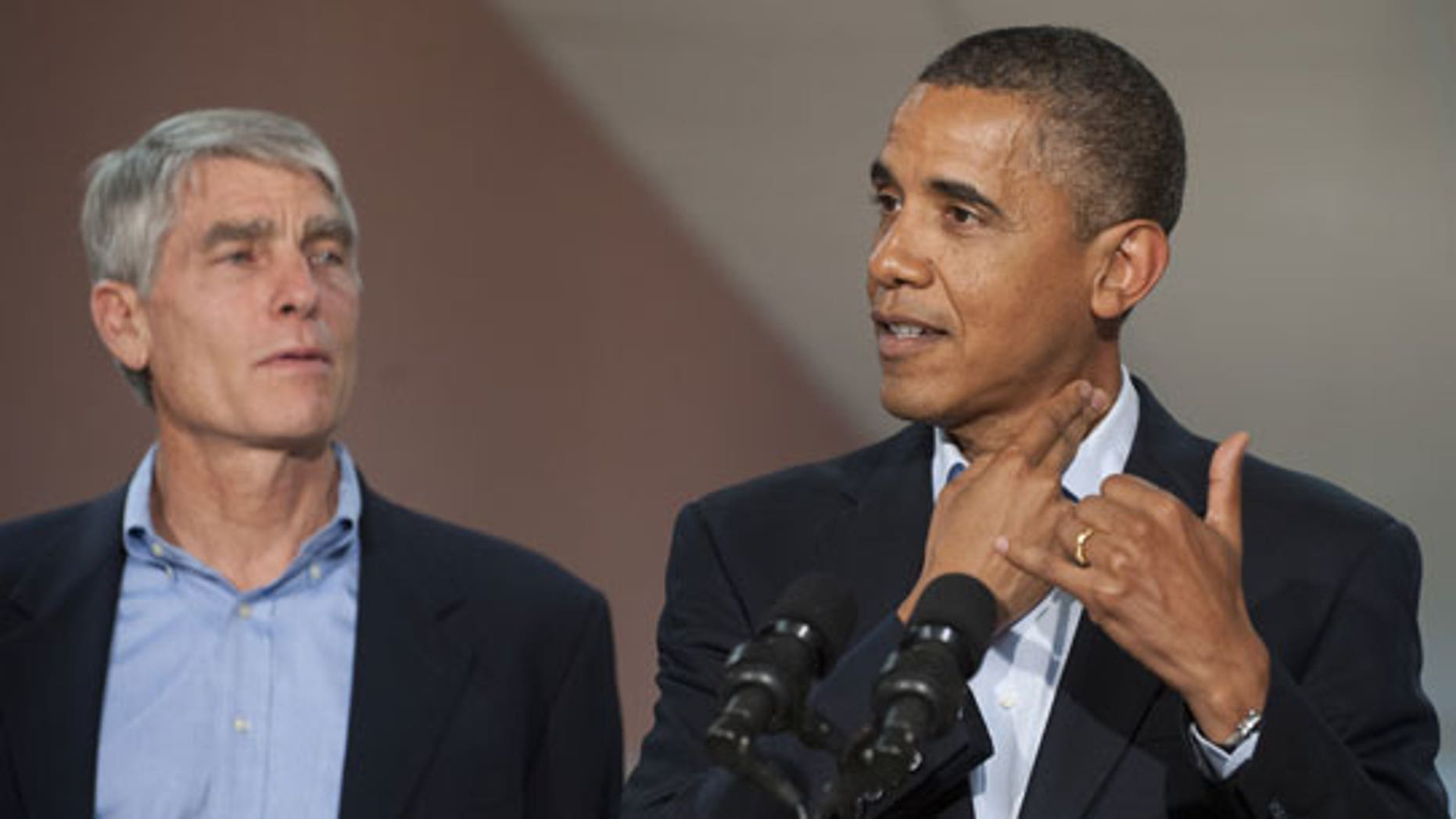 Udall and Obama. By Saul Loeb, AFP/Getty Images.