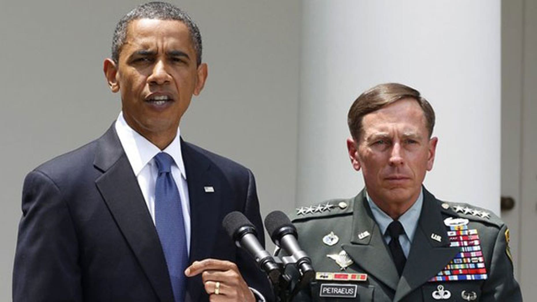 June 23: President Obama announces that Gen. David Petraeus, right, will replace Gen. Stanley McChrystal as his top commander in Afghanistan while in the Rose Garden of the White House in Washington (Reuters).