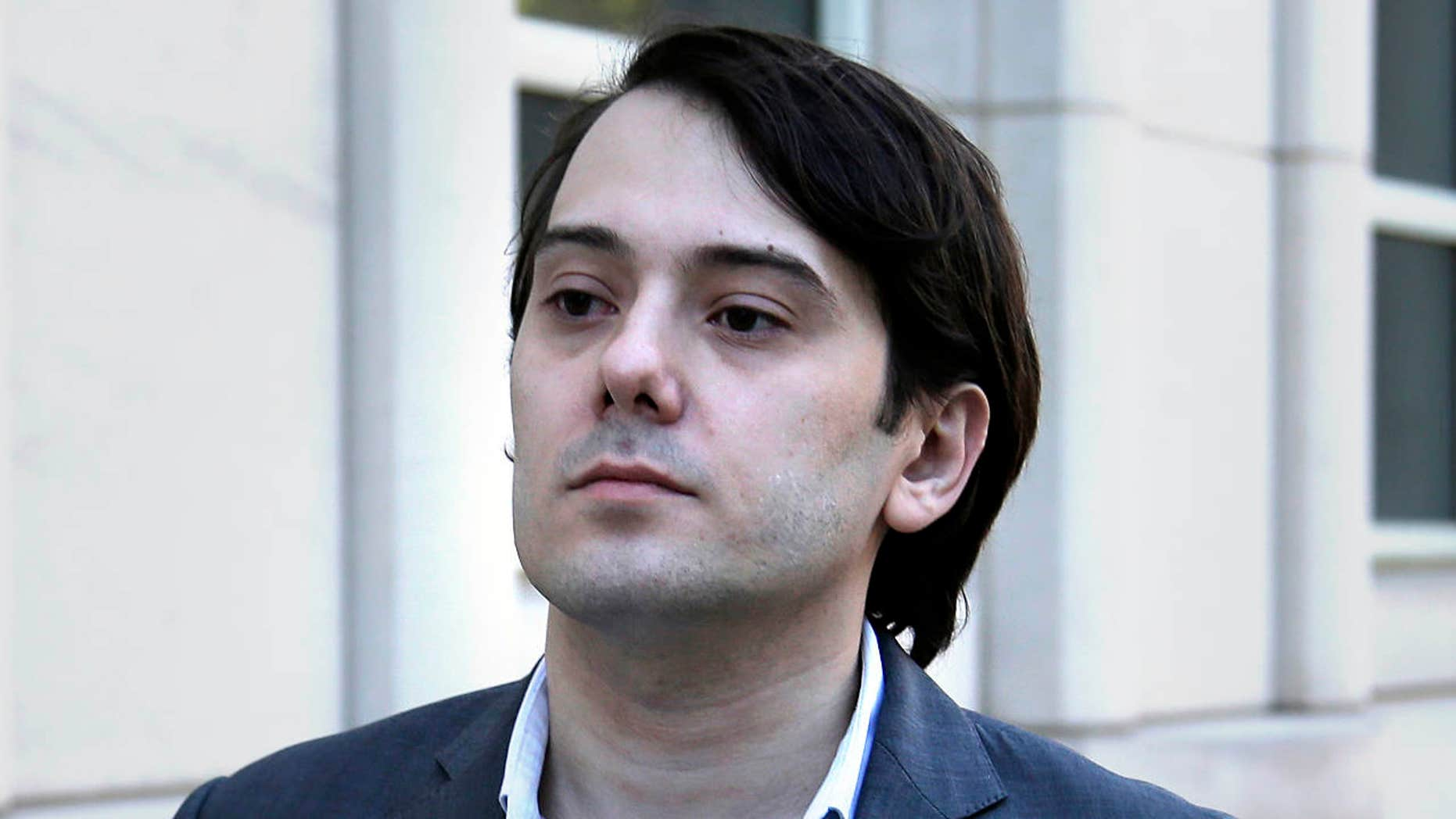 FILE- In this June 26, 2017, file photo, former Turing Pharmaceuticals CEO Martin Shkreli arrives to federal court in New York.