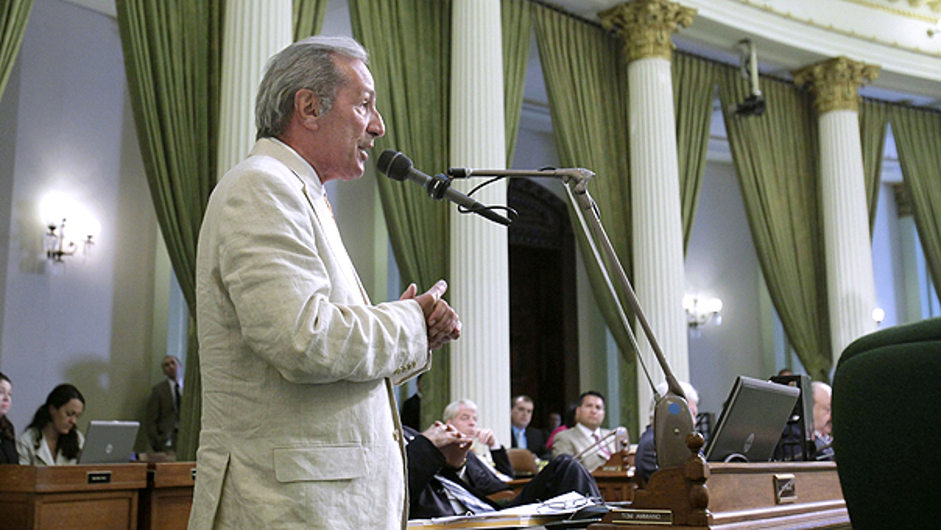July 5: Assemblyman Tom Ammiano, D-San Francisco, urged lawmakers to approve a measure he was carrying requiring public schools to teach the historical contributions of gay Americans, was approved by the Assembly in Sacramento, Calif.