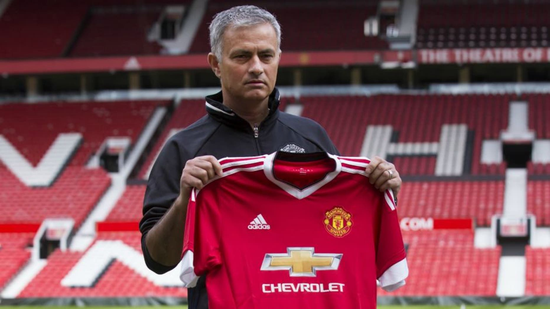 MANCHESTER, UNITED KINGDOM - JULY 5: Manchester United's new manager Jose Mourinho poses for pictures during a photocall at the club's Old Trafford Stadium on July 5, 2016 in Manchester, England. (Photo by Jon Super/Anadolu Agency/Getty Images)