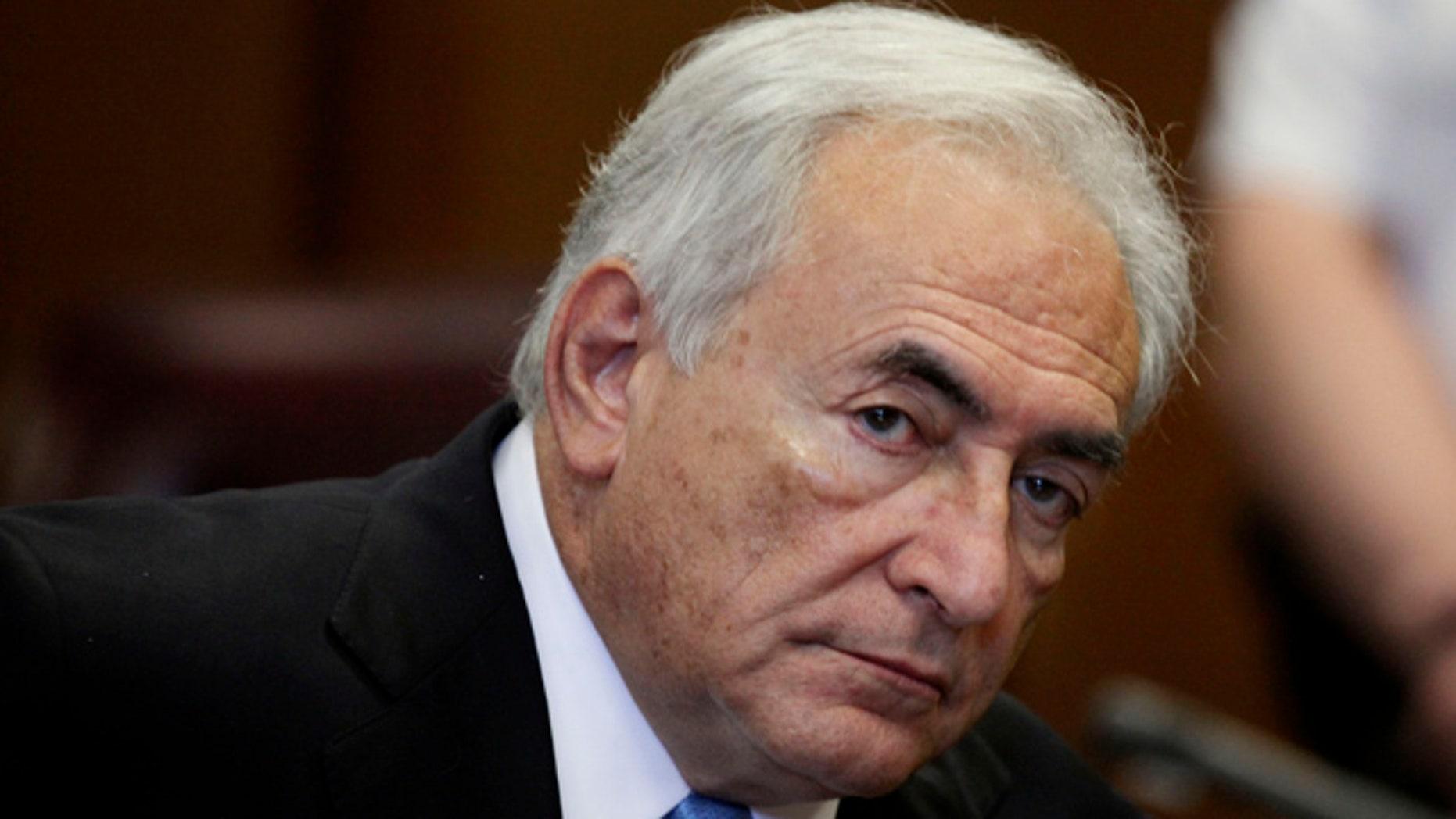 July 1, 2012: Former International Monetary Fund leader Dominique Strauss-Kahn listens to proceedings in New York State Supreme court in New York.