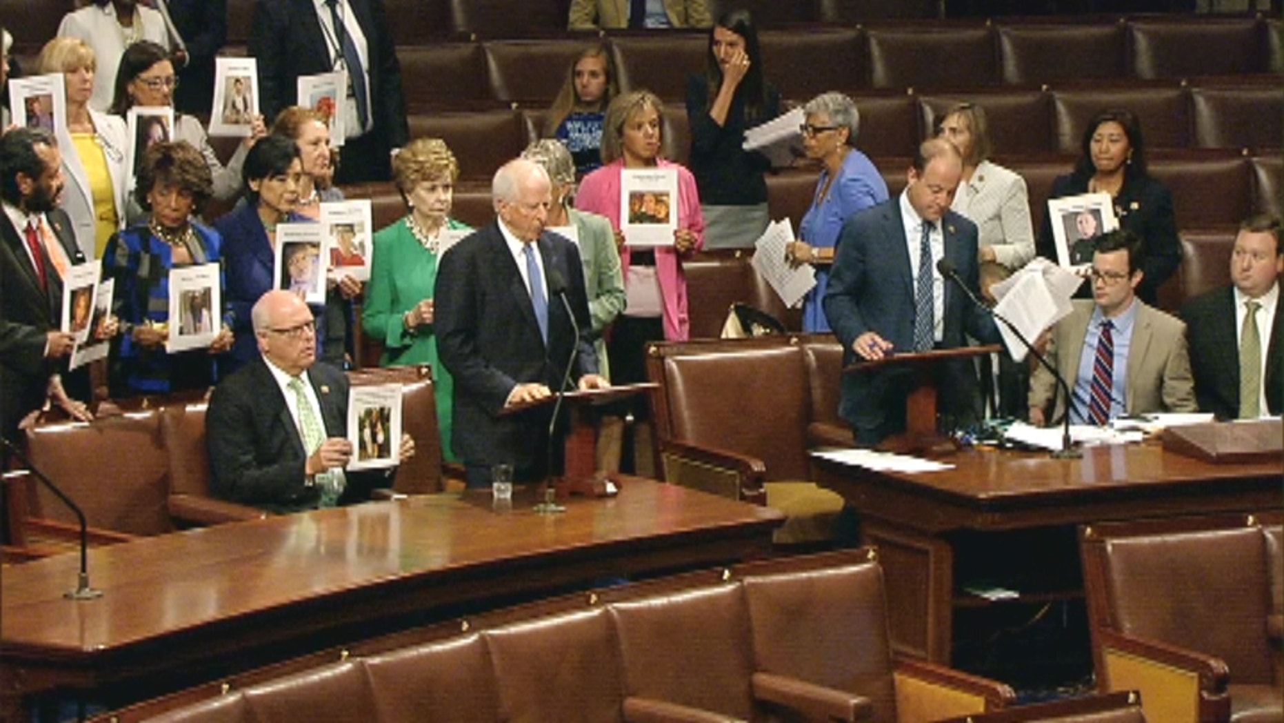 July 7, 2016: Democrats protest gun violence on the House floor.