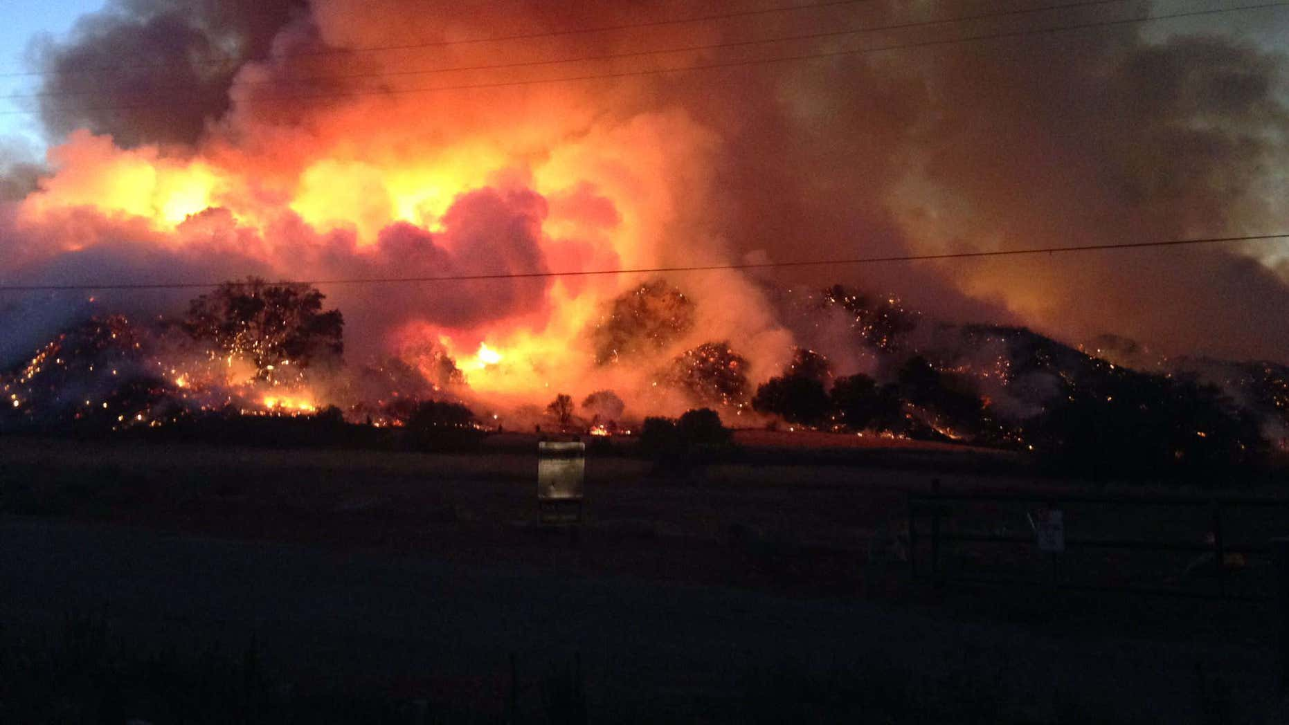 July 9, 2016: Sage fire burns in Santa Clarita, Calif.