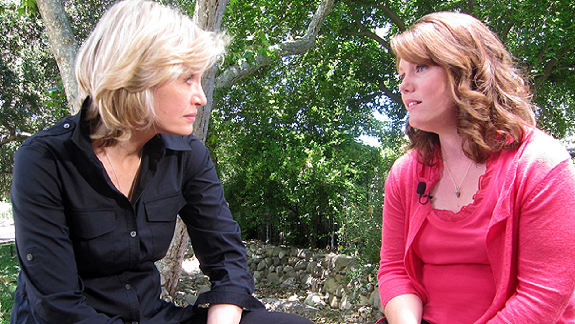 July 1, 2011: ABC News' Diane Sawyer, left, speaks with Jaycee Dugard in Ojai, Calif., during her first interview since being kidnapped near her California home in 1991, when she was 11.