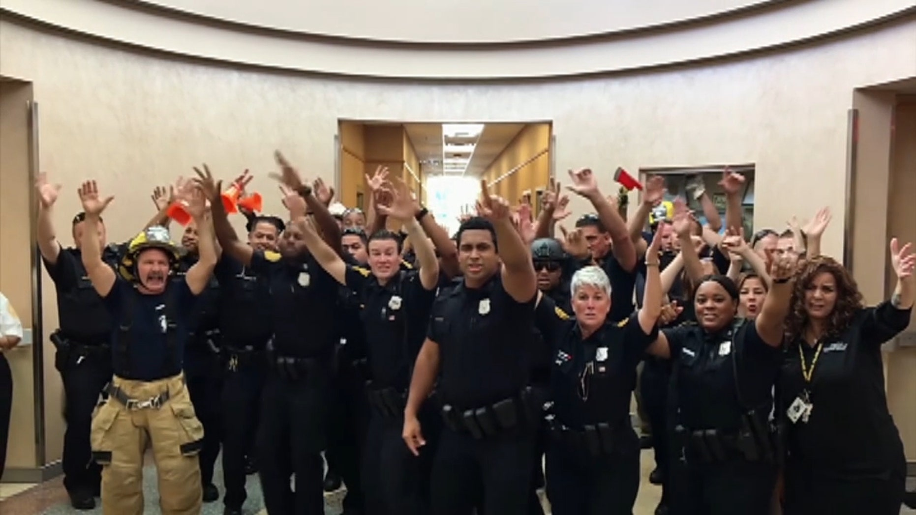 "Norfolk Police Department posted its lip sync battle to Bruno Mars' ""Uptown Funk."""