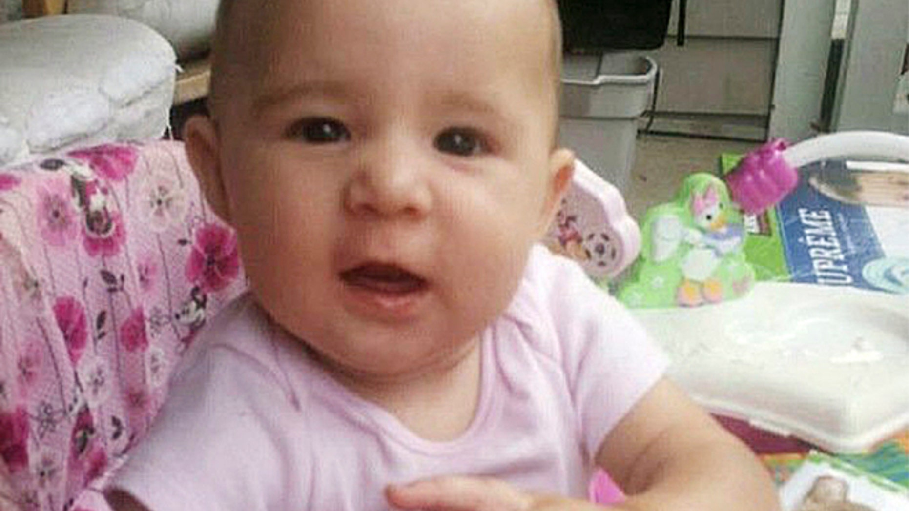 This undated Graham family photo shows 6-month-old Ember Skye Graham.