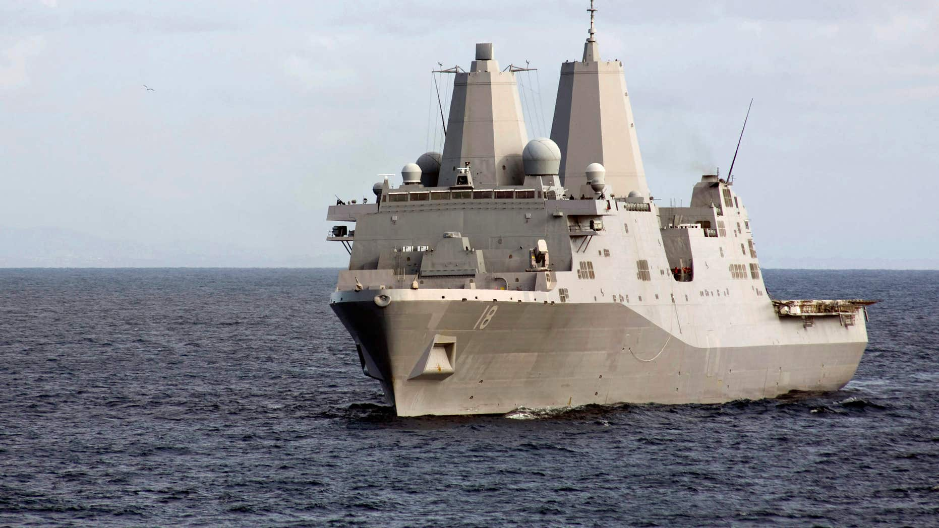 File photo of the amphibious vessel USS New Orleans in the Pacific Ocean