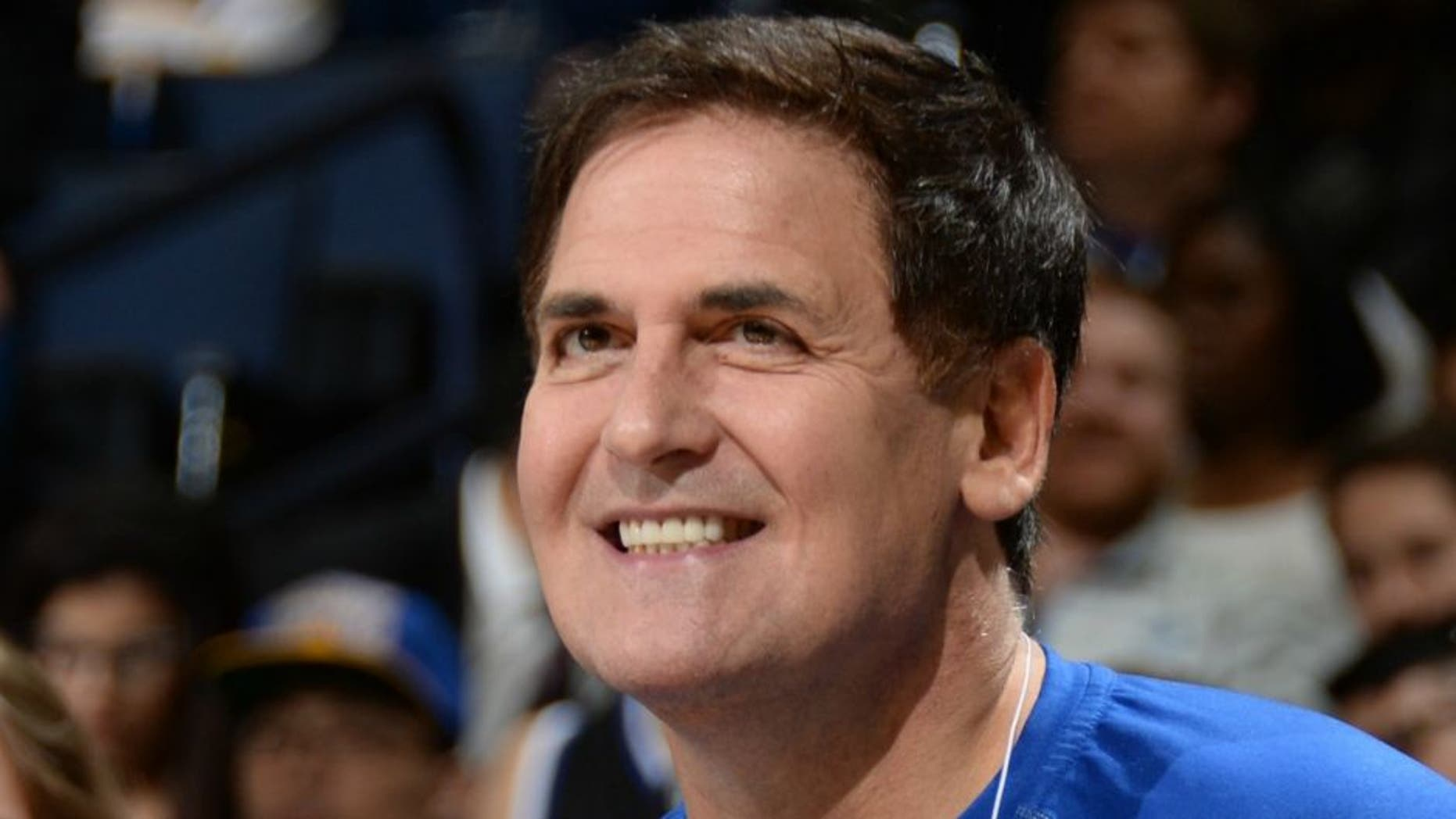 OAKLAND, CA - FEBRUARY 4: Mark Cuban, Owner of the Dallas Mavericks, attends a game between the Golden State Warriors and the Dallas Mavericks at Oracle Arena on February 4, 2015 in Oakland, California. NOTE TO USER: User expressly acknowledges and agrees that, by downloading and/or using this Photograph, user is consenting to the terms and conditions of the Getty Images License Agreement. Mandatory Copyright Notice: Copyright 2015 NBAE (Photo by Andrew D. Bernstein/NBAE via Getty Images)