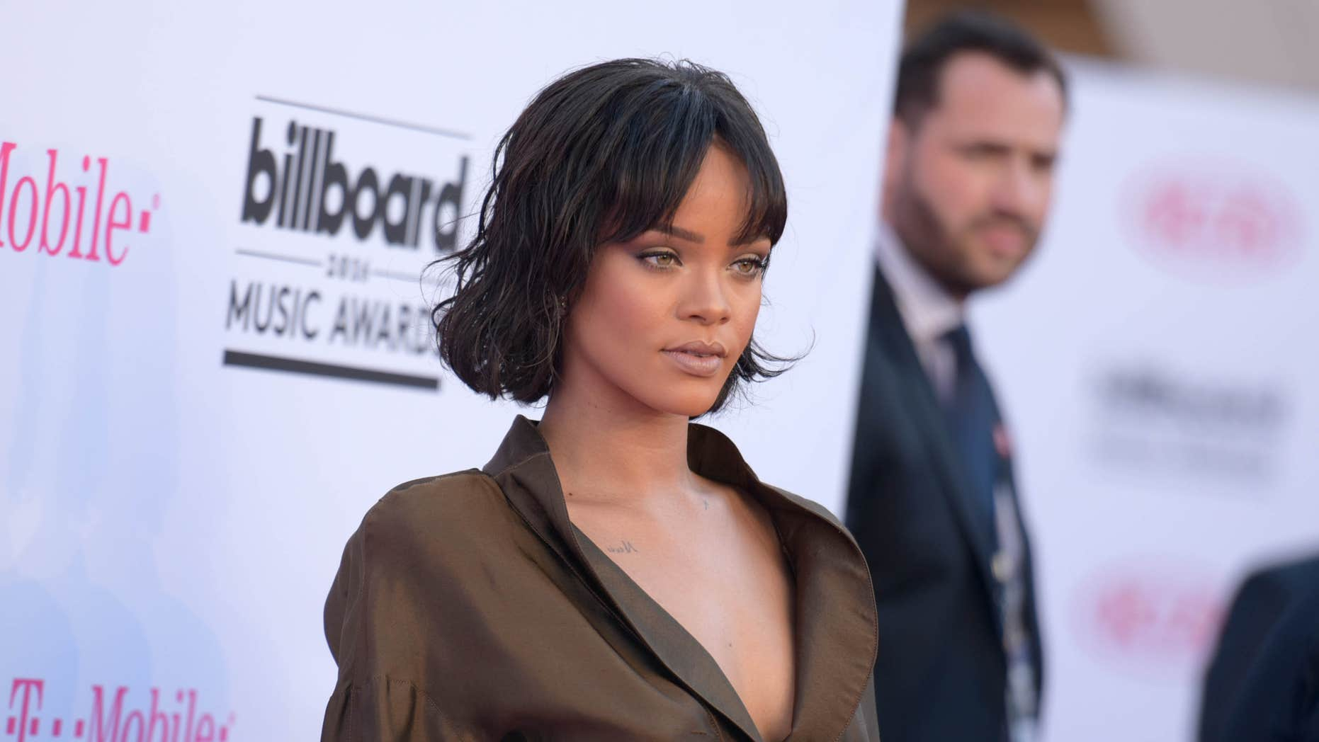 FILE - In this May 22, 2016 file photo, Rihanna arrives at the Billboard Music Awards in Las Vegas.