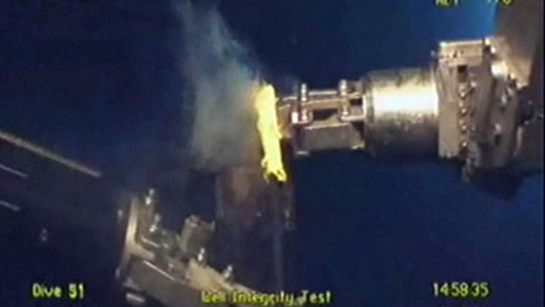 July 15: BP's underwater cameras show that oil has stopped flowing from its broken well in the Gulf of Mexico for the first time since the spill began in April.