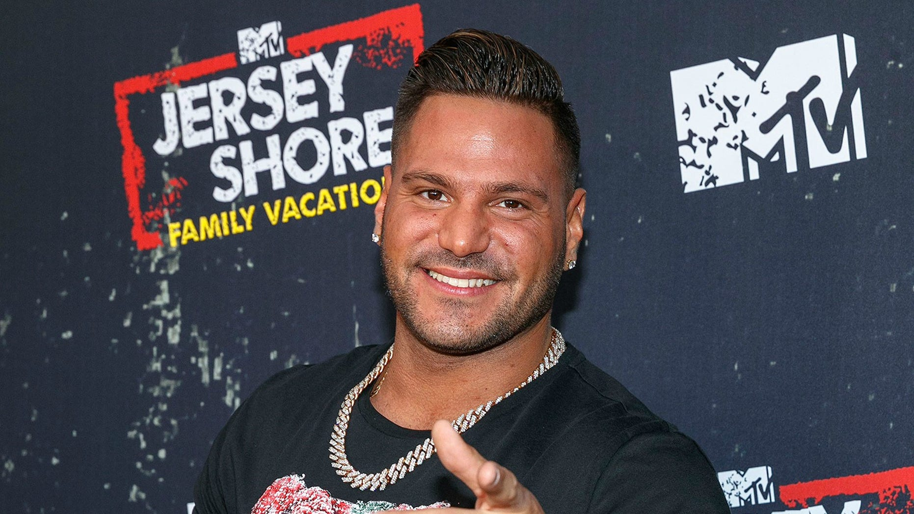 "WEST HOLLYWOOD, CA - MARCH 29:  Television personality Ronnie Ortiz-Magro arrives at the ""Jersey Shore Family Vacation"" Premiere Party at HYDE Sunset: Kitchen + Cocktails on March 29, 2018 in West Hollywood, California.  (Photo by Rich Polk/Getty Images for MTV)"