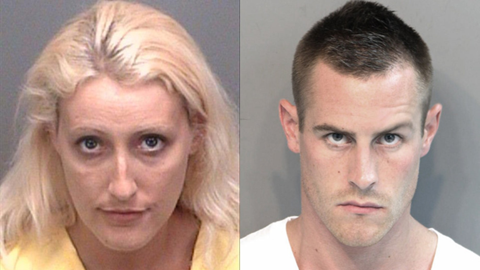 Amanda Logue, 28, and her boyfriend Jason Andrews, 27, stabbed and sledgehammered a Florida tattoo parlor owner to death after a party at the man's home in a crime plotted over text messages, Florida police say.