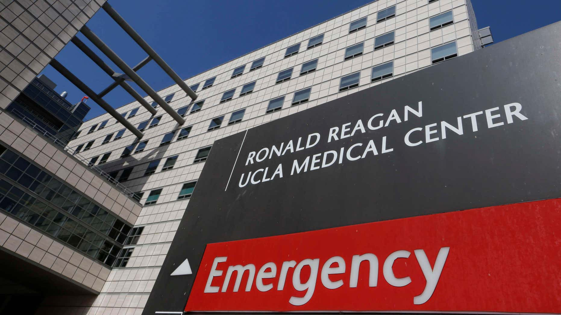 Feb. 19, 2015: The Ronald Reagan UCLA Medical Center building is seen in Los Angeles.