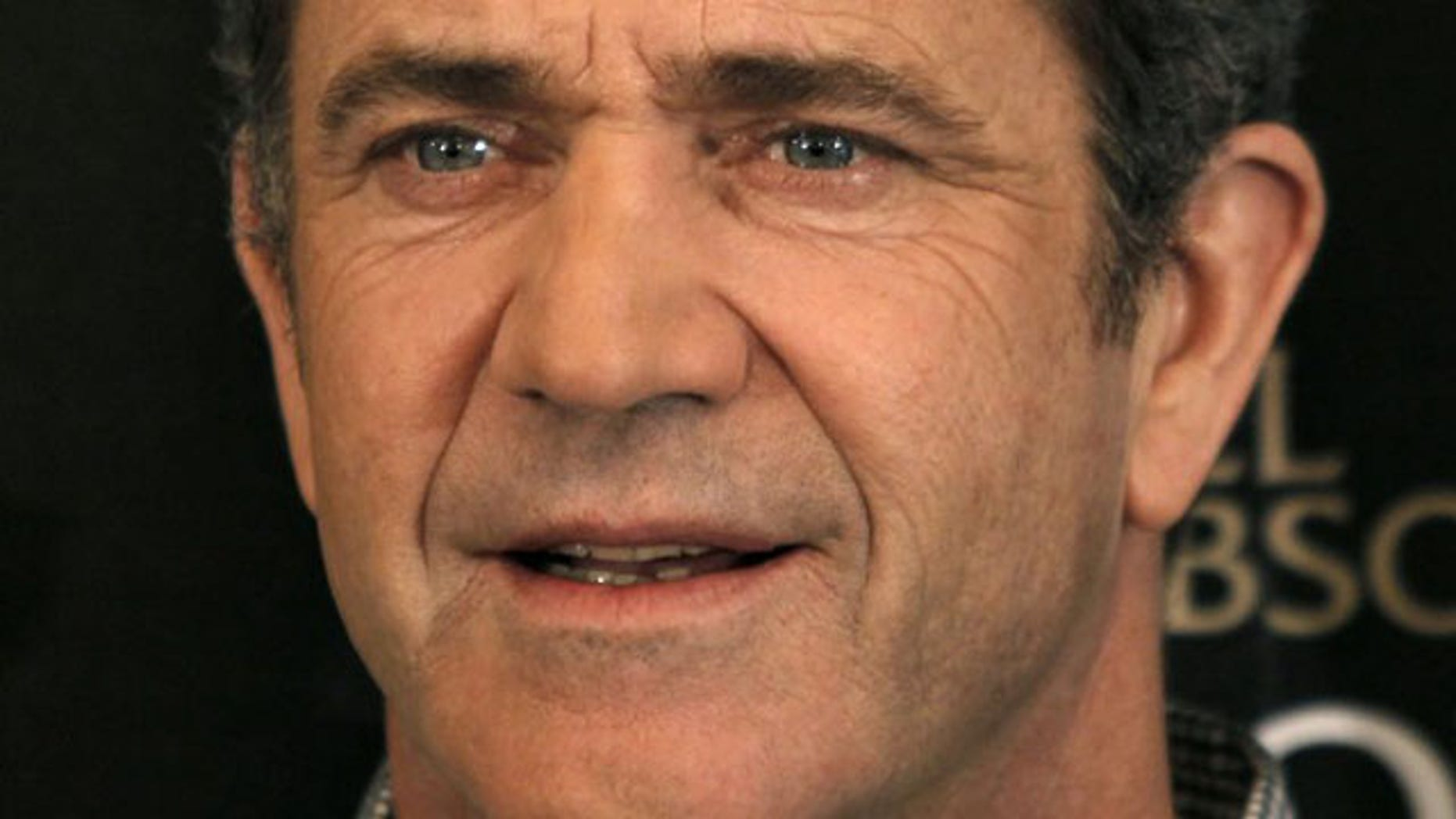 """Actor Mel Gibson poses during a photocall for the film """"Edge of Darkness"""" by director Martin Campbell in Paris, in this February 4, 2010 file photo (Reuters)."""
