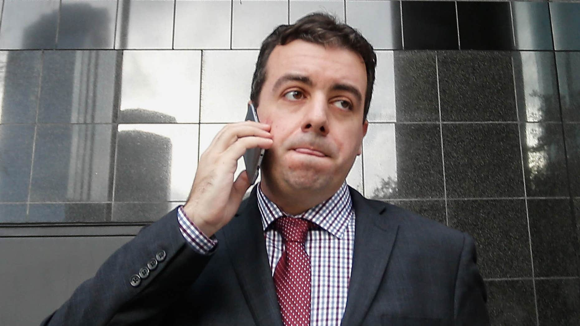 FILE - In this Jan. 8, 2016, file photo, Chris Correa, the former director of scouting for the St. Louis Cardinals, leaves the Bob Casey Federal Courthouse in Houston.