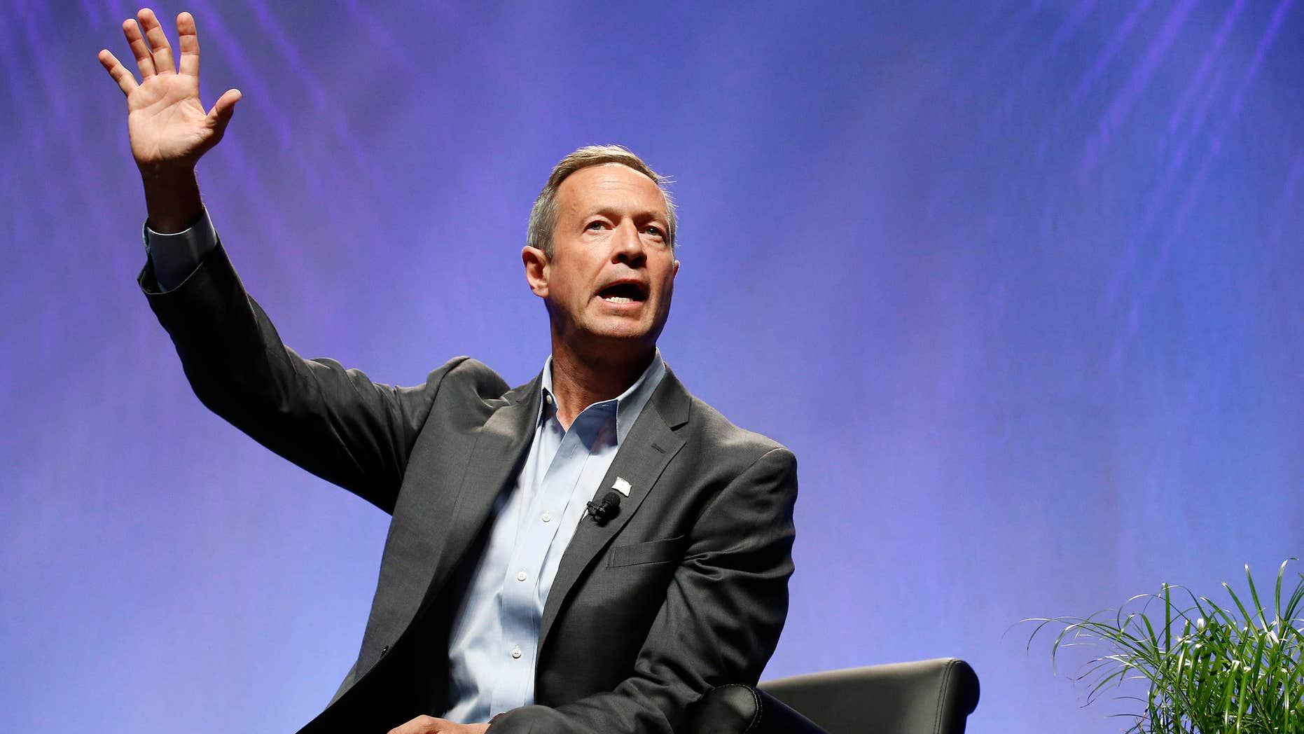 July 18, 2015: Democratic presidential candidate, former Maryland Gov. Martin O'Malley, speaks at a Netroots Nation town hall meeting.
