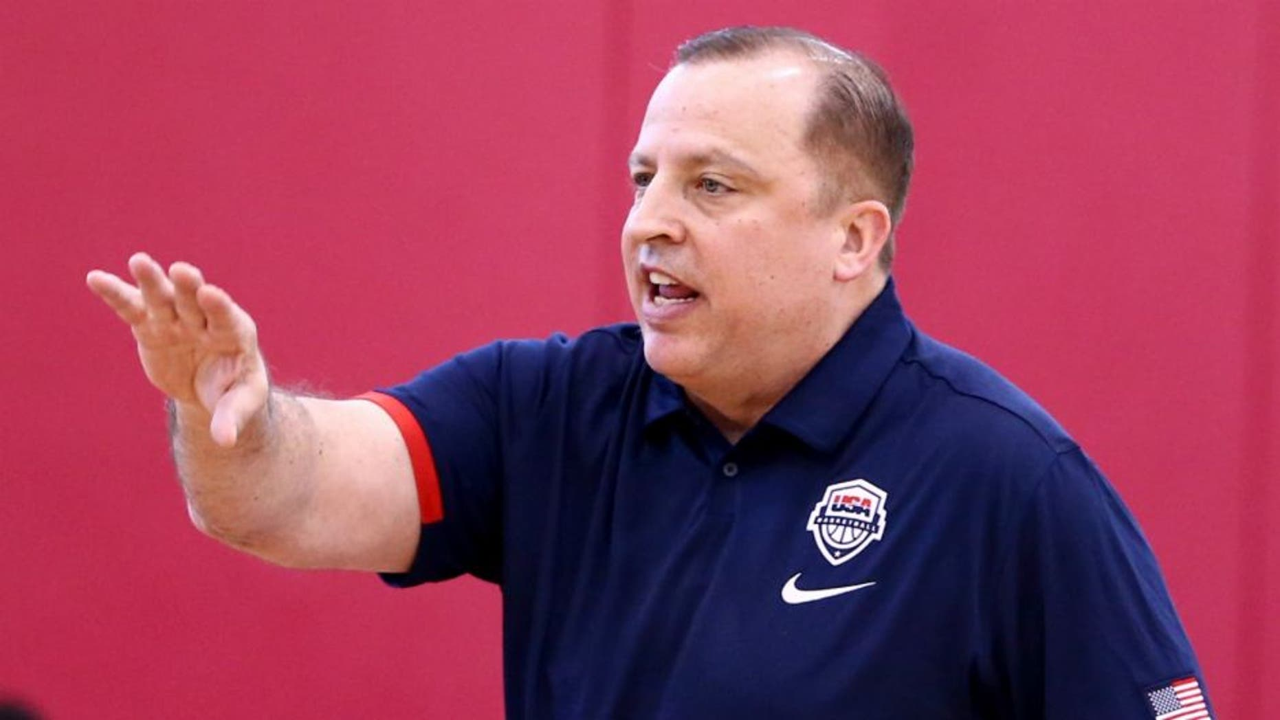 LAS VEGAS, NV - JULY 18: USA Basketball Men's National Team Assistant Coach Tom Thibodeau instructs Draymond Green #14 during practice on July 18, 2016 at Mendenhall Center on the University of Nevada, Las Vegas campus in Las Vegas, Nevada. NOTE TO USER: User expressly acknowledges and agrees that, by downloading and or using this photograph, User is consenting to the terms and conditions of the Getty Images License Agreement. Mandatory Copyright Notice: Copyright 2016 NBAE (Photo by Nathaniel S. Butler/NBAE via Getty Images),LAS VEGAS, NV - JULY 18: USA Basketball Mens National Team Assistant Coach Tom Thibodeau instructs Draymond Green #14 during practice on July 18, 2016 at Mendenhall Center on the University of Nevada, Las Vegas campus in Las Vegas, Nevada. NOTE TO USER: User expressly acknowledges and agrees that, by downloading and or using this photograph, User is consenting to the terms and conditions of the Getty Images License Agreement. Mandatory Copyright Notice: Copyright 2016 NBAE (Photo by Nathaniel S. Butler/NBAE via Getty Images)