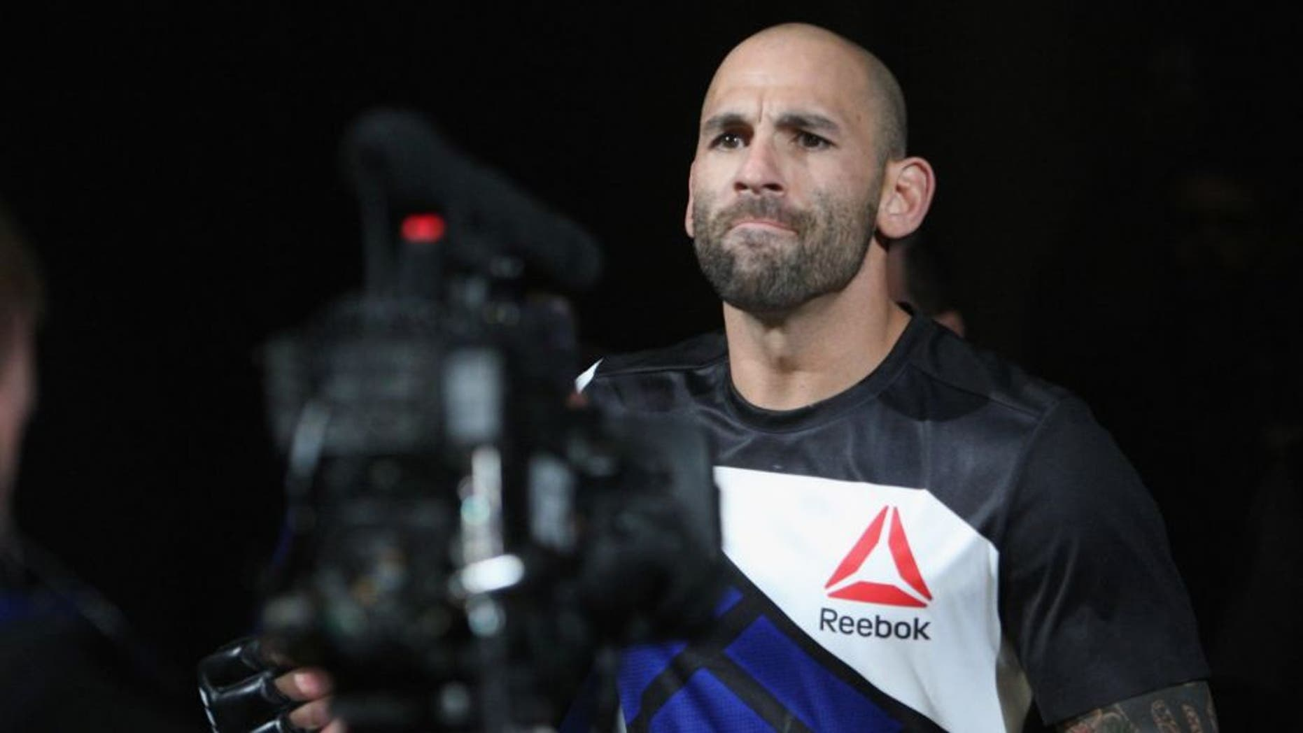 LAS VEGAS, NV - JULY 12: George Sullivan enters the Octagon for his fight against Dominic Waters in their welterweight bout during the Ultimate Fighter Finale inside MGM Grand Garden Arena on July 12, 2015 in Las Vegas, Nevada. (Photo by Mitch Viquez/Zuffa LLC/Zuffa LLC via Getty Images)