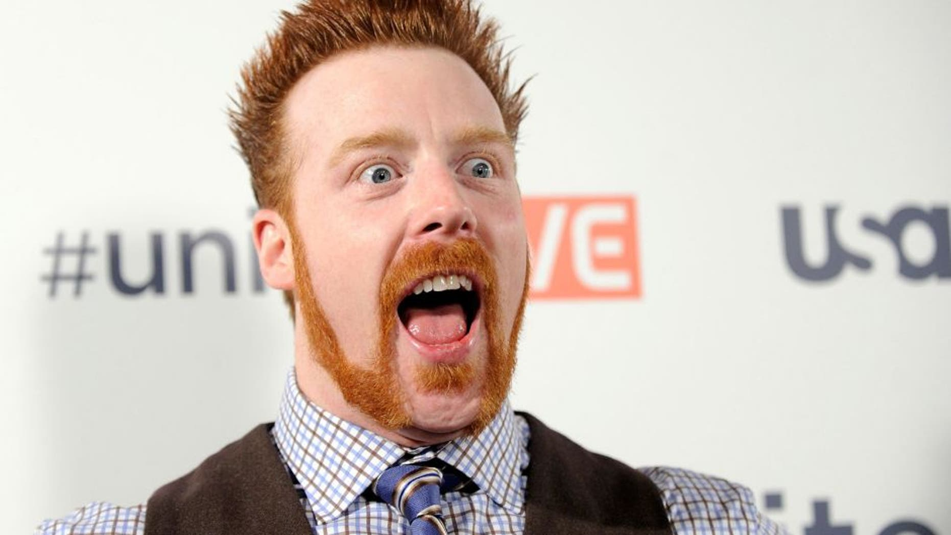 "LAS VEGAS, NV - OCTOBER 03: Professional wrestler Sheamus arrives at the ""UniteLIVE: The Concert to Rock Out Bullying"" at the Thomas & Mack Center on October 3, 2013 in Las Vegas, Nevada. (Photo by David Becker/Getty Images)"