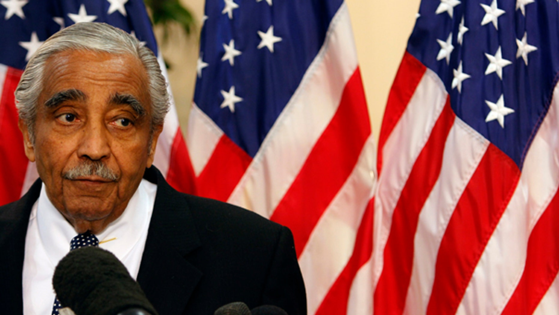 July 23: Democratic Rep. Charles Rangel speaks to reporters during a news conference in New York. Rangel, once among the most powerful members of Congress, will face a hearing on charges of violating House ethics rules.