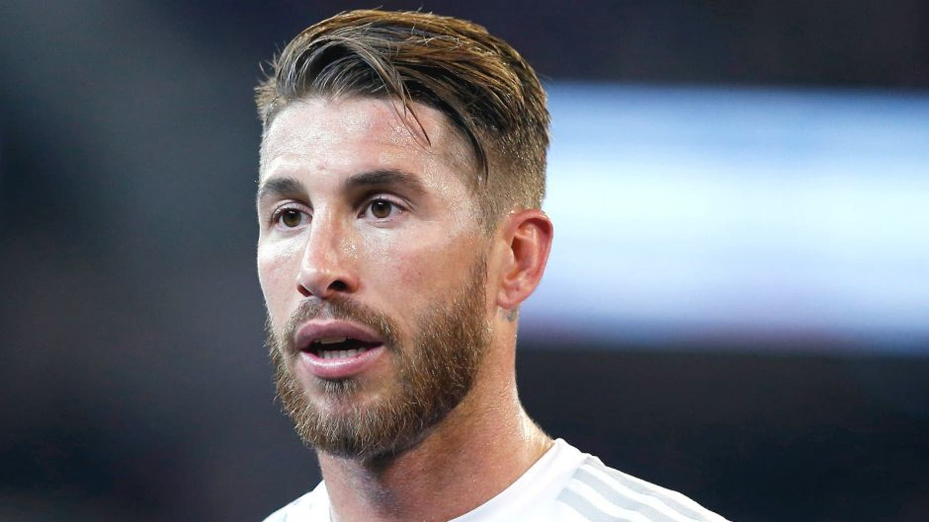 MELBURNE, AUSTRALIA - JULY 18: Sergio Ramos of Real Madrid C.F looks on during the international friendly match between Real Madrid and AS Roma at Melbourne Cricket Ground on July 18, 2015 in Melbourne, Australia. (Photo by Helios de la Rubia/Real Madrid via Getty Images)