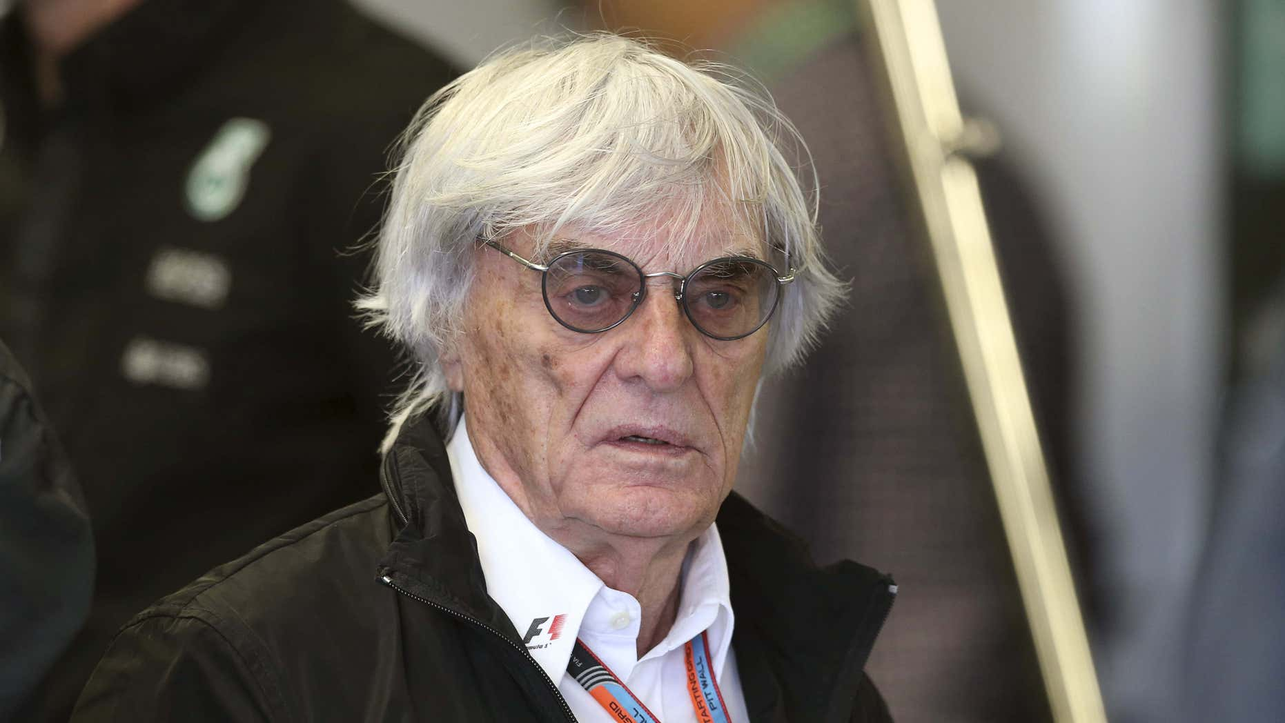 June 16, 2015: Formula One supremo Bernie Ecclestone walks in the Mercedes team garage during the third practice session of the Canadian F1 Grand Prix at the Circuit Gilles Villeneuve in Montreal.