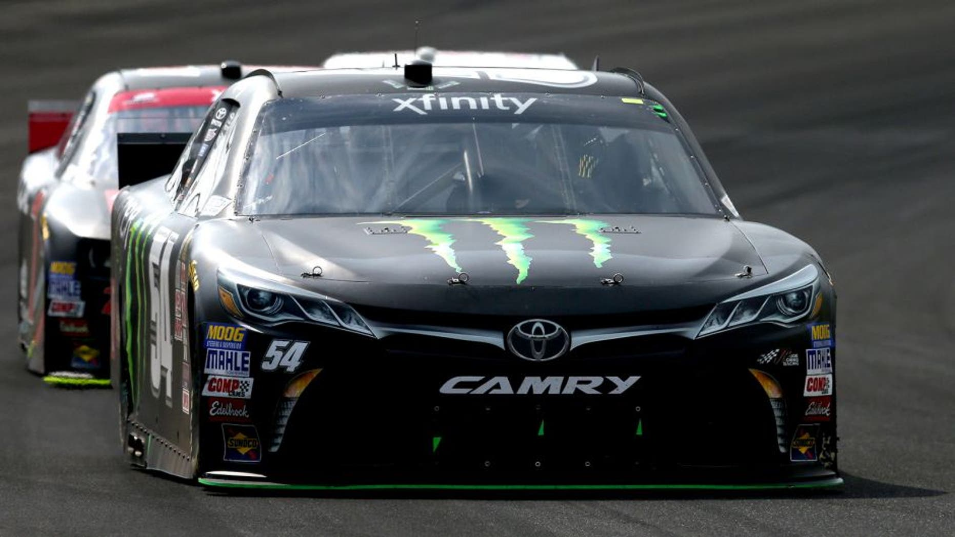 INDIANAPOLIS, IN - JULY 25: Kyle Busch, driver of the #54 Monster Energy Toyota, races during the NASCAR XFINITY Series Lilly Diabetes 250 at Indianapolis Motor Speedway on July 25, 2015 in Indianapolis, Indiana. (Photo by Sean Gardner/NASCAR via Getty Images)
