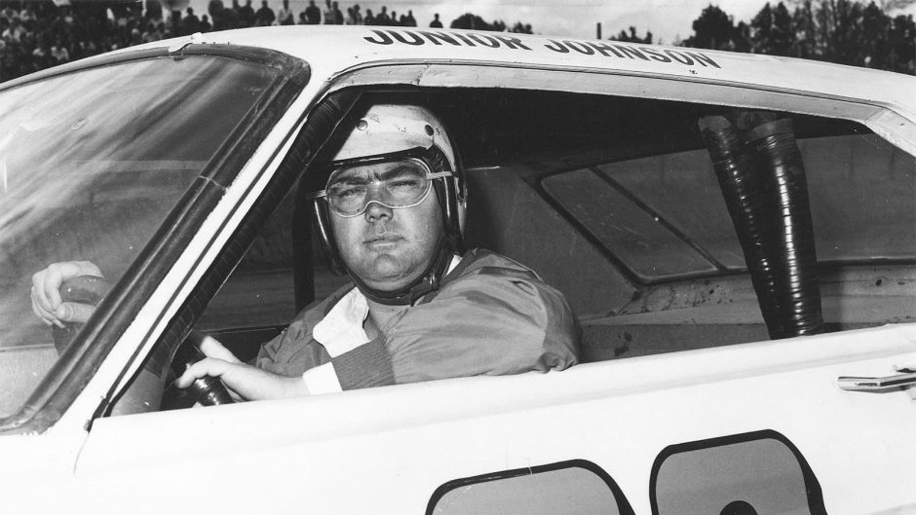 Junior Johnson, winner of the 1965 Rebel 300. (Photo by ISC Archives via Getty Images)