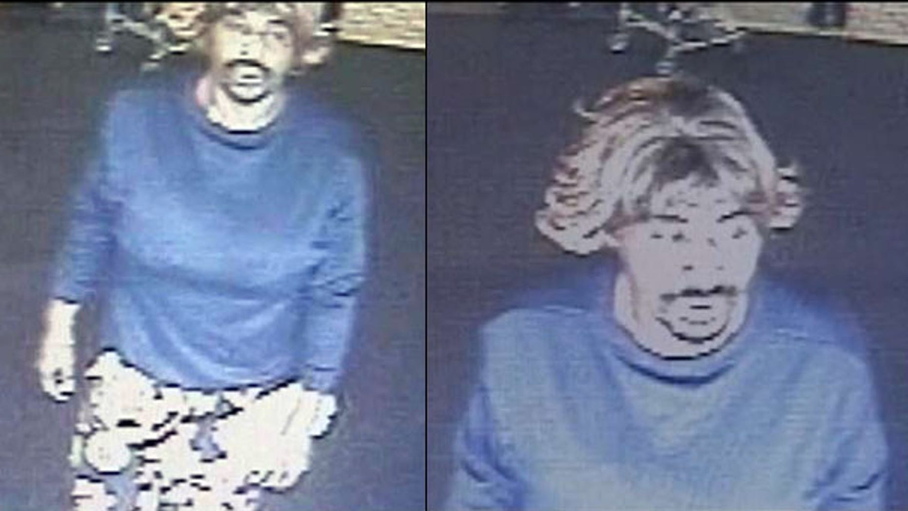July 26: Security footage shows 48-year-old Dennis Hawkins wearing clown pants, fake breasts and a wig as he robs a Pennsylvania bank, police say.