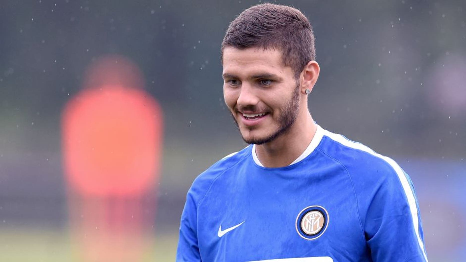 SHANGHAI, CHINA - JULY 23: Mauro Icardi of FC Internazionale looks on during a training session on July 23, 2015 in Shanghai, China. (Photo by Claudio Villa - Inter/Getty Images)