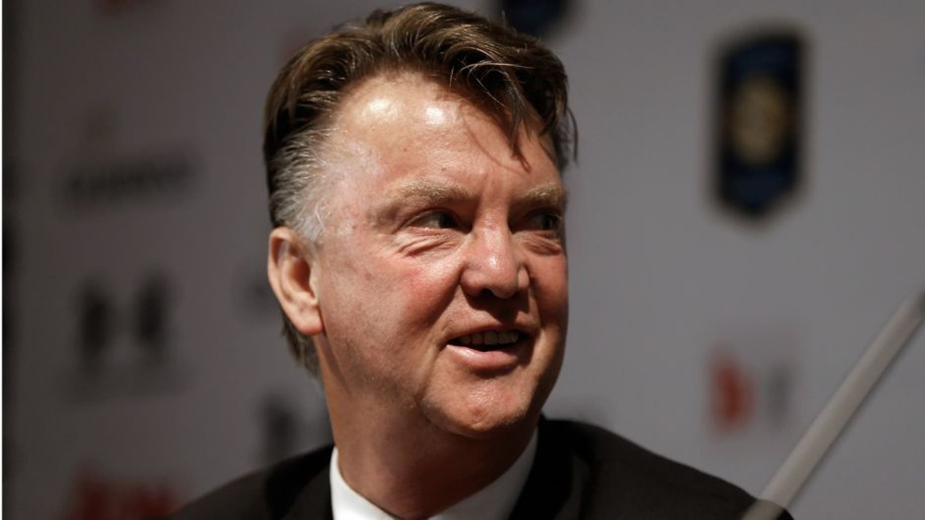SAN JOSE, CA - JULY 20: Manager Louis van Gaal of Manchester United speaks during a press conference at Avaya Stadium on July 20, 2015 in San Jose, California. Manchester United will face the San Jose Earthquakes in an international friendly on July 21. (Photo by Stephen Lam - MUFC/Getty Iamges)