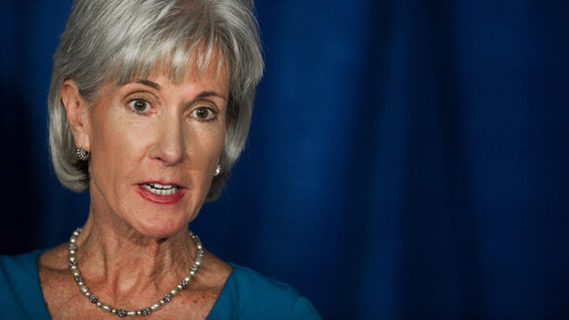 Health and Human Services Secretary Kathleen Sebelius in Washington.
