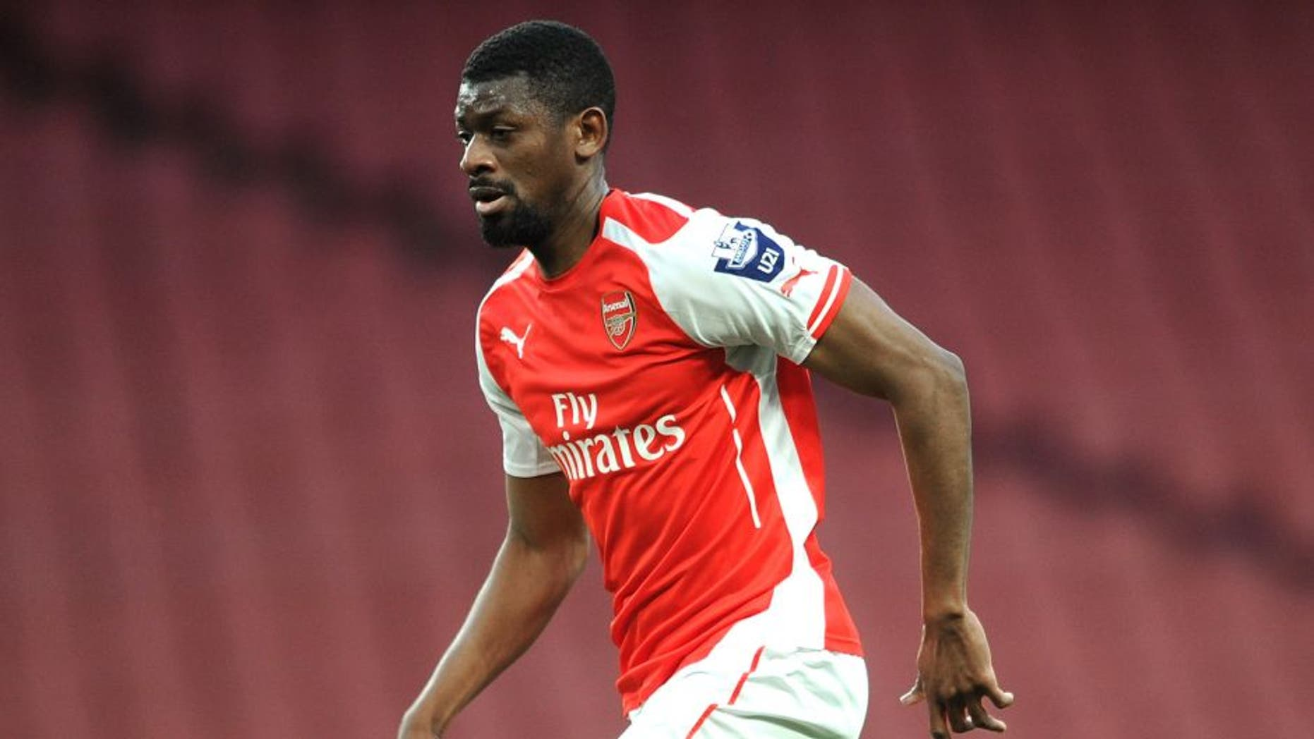 LONDON, ENGLAND - APRIL 13: Abou Diaby of Arsenal during the match between Arsenal U21 and Reading U21 in the Barclays Premier U21 League at Emirates Stadium on April 13, 2015 in London, England. (Photo by David Price/Arsenal FC via Getty Images)