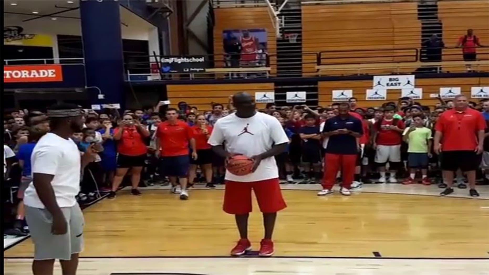 Chris Paul challenges Michael Jordan to shooting contest