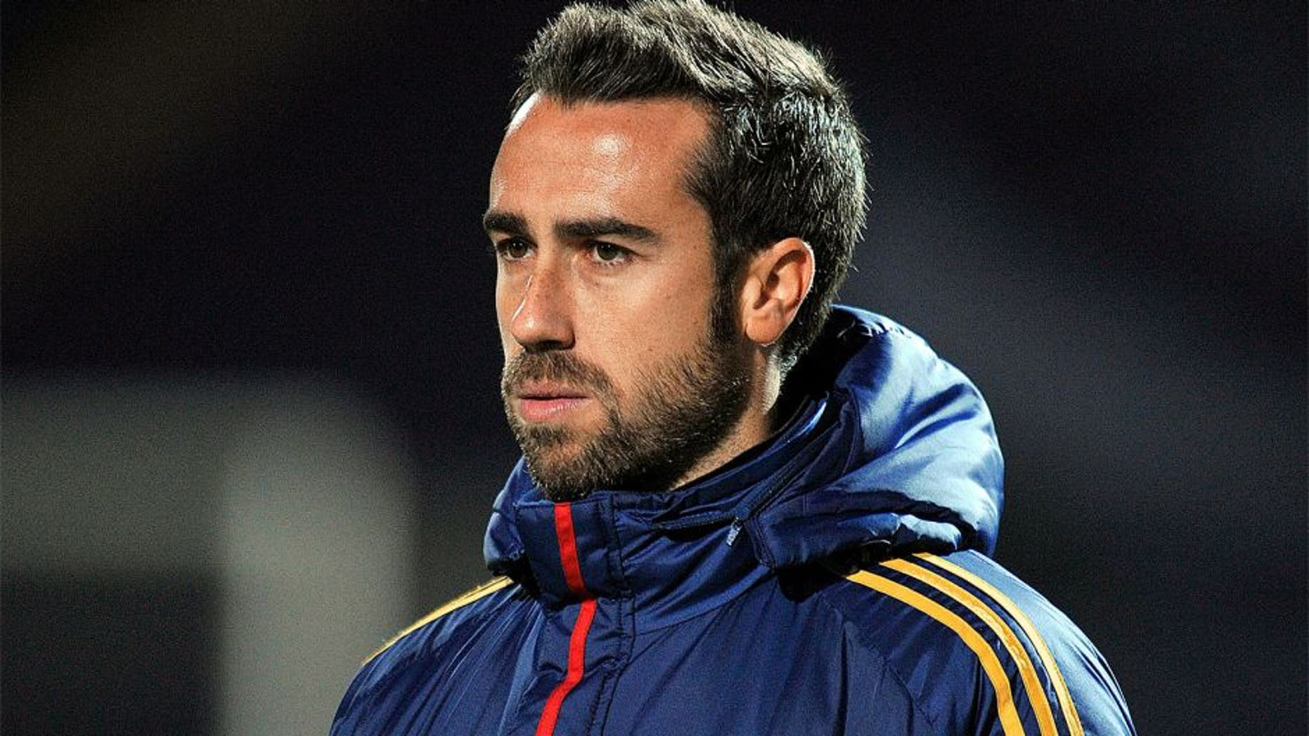 CHESTERFIELD, ENGLAND - DECEMBER 8: Jorge Vilda Head Coach of Spain during the UEFA European Women's Under - 17 Championship Final match between Germany and Spain at the Proact Stadium on December 8, 2013 in Chesterfield, England. (Photo by Clint Hughes/Getty Images)