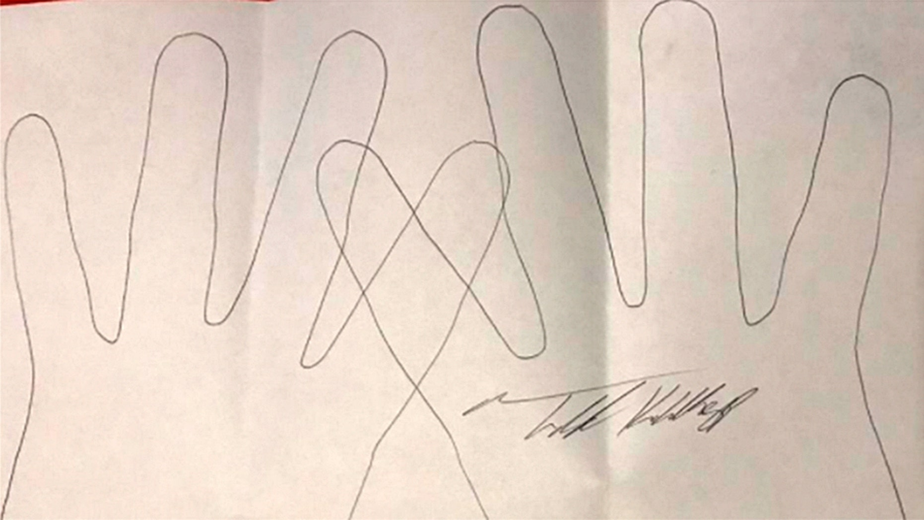 A signed pencil tracing of convicted serial killer Todd Kohlhepp was being advertised online.