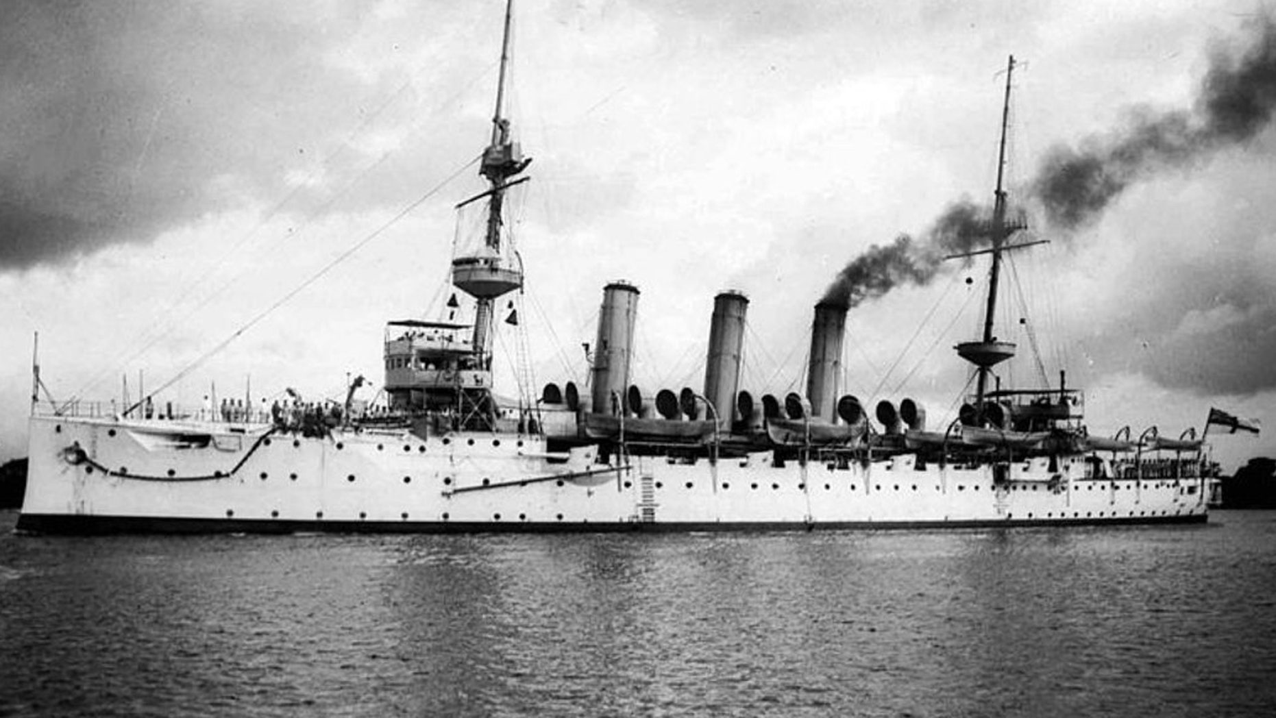 The Royal Navy's HMS Hermes was sunk by a German U-boat in 1914.
