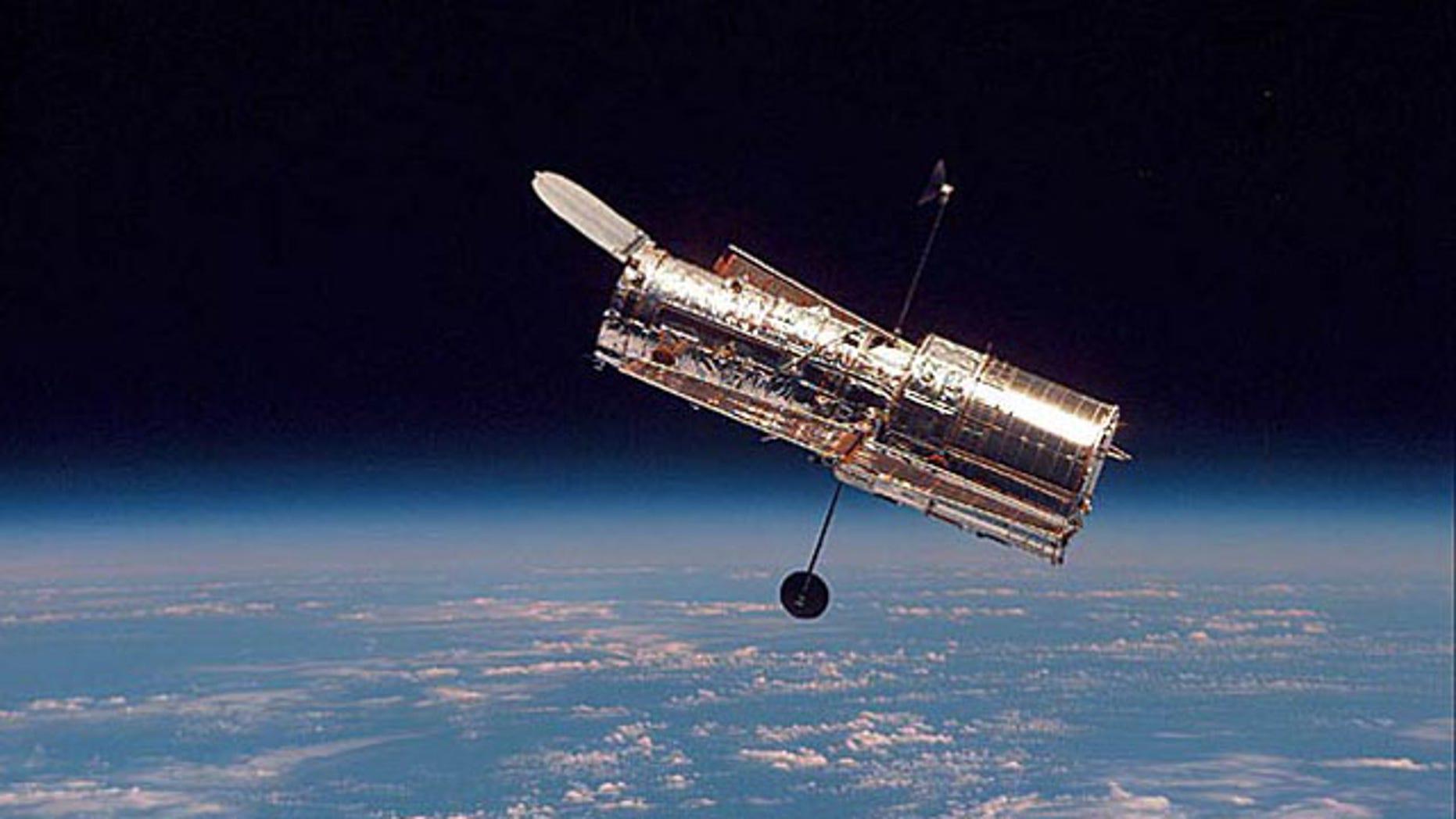 NASA's Hubble Space Telescope maintains its orbit around Earth.