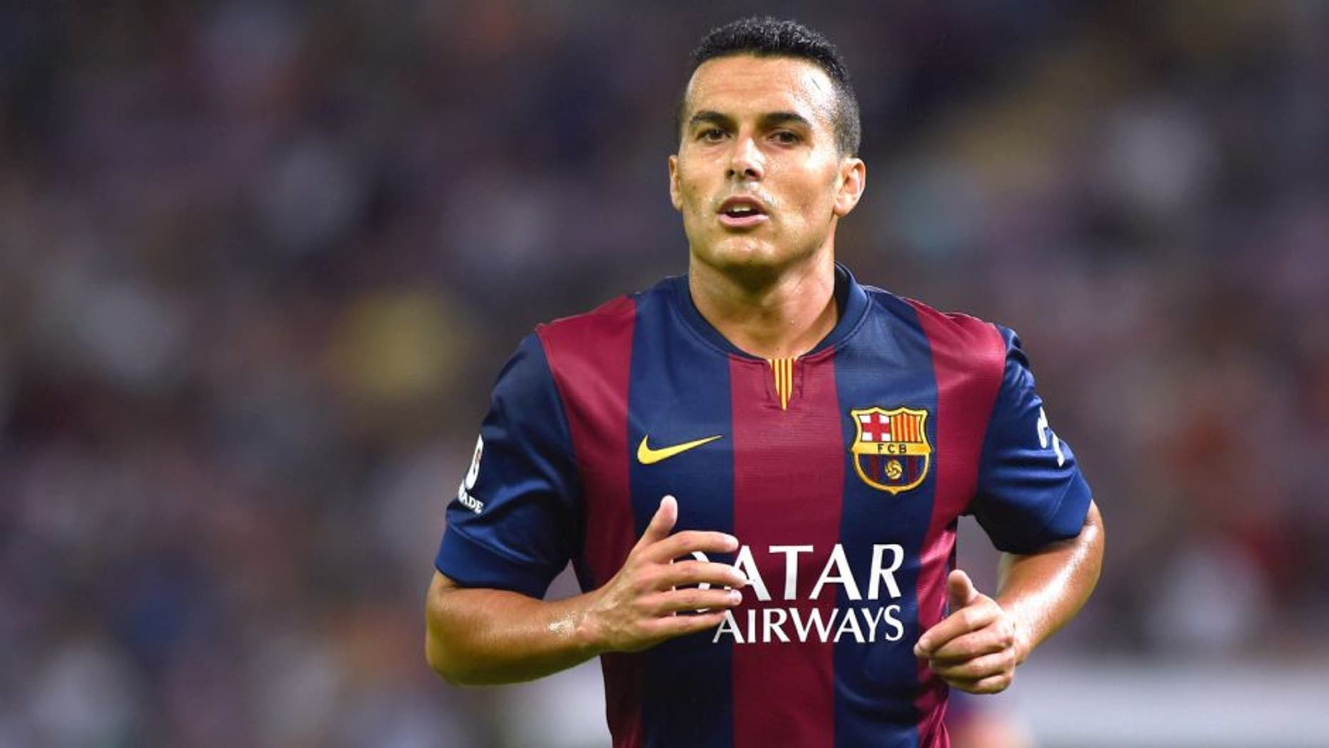 GENEVA, SWITZERLAND - AUGUST 06: Pedro Rodriguez of FC Barcelona looks on during the pre-season friendly match between FC Barcelona and SSC Napoli on August 6, 2014 in Geneva, Switzerland. (Photo by Valerio Pennicino/Getty Images)